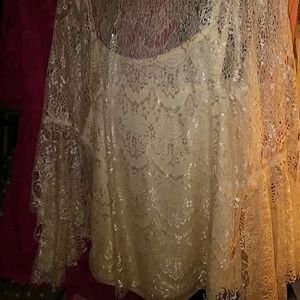 Lace Top And Cami by & by Champagne